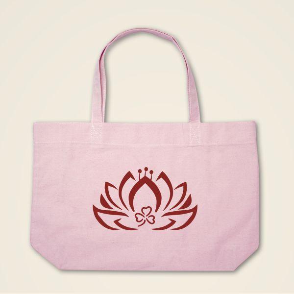 Boatshape Stofftasche rosa Dreiblatt-Lotus'