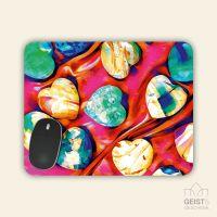 Mousepad eckige Form Diamond Hearts Geist und Geschenk