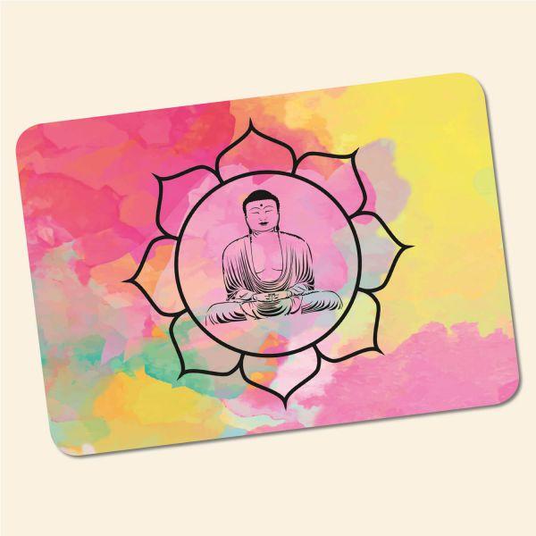 Bedrucktes 6-teiliges Tischset Buddha Aquarell Geist und Geschenk