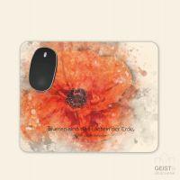 Bedrucktes Mousepad Ralph Waldo Emerson Zitat Blume Geist und Geschenk eckige Form
