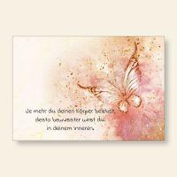Grußkarten Set Aquarell Schmetterling Körper Bewusstsein Geist und Geschenk
