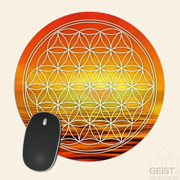 Mousepad-Blume-des-Lebens-Motiv-Hara-bedruckt-1