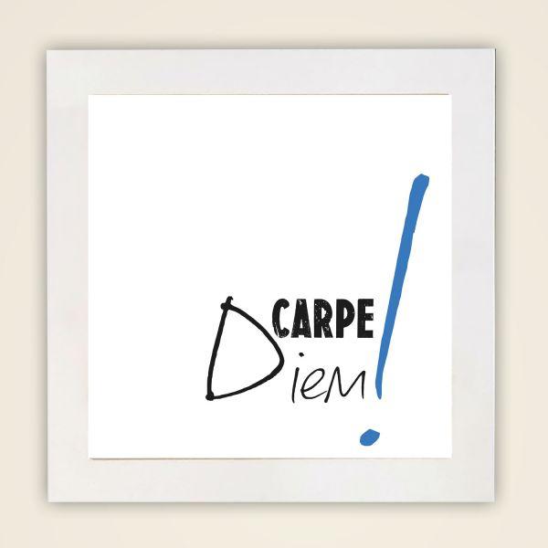 Wandbild 'Carpe Diem' quadrat