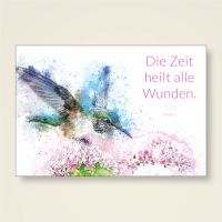 Grußkarten Set  'Die Zeit heilt alle Wunden' Voltaire Weisheit Zitat Geist und Geschenk