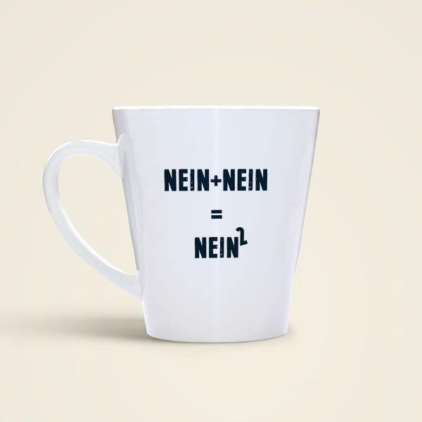 Bedruckte Spruchtasse Nein und Nein Monika Minder Geist und Geschenk Variante Rückseite