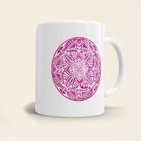 Mandala Shamanic Motiv bedruckte Tasse klassisch rosa