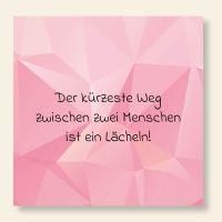 Bedruckte Postkarte Pink Diamond Spruch Geist und Geschenk quadratische Form