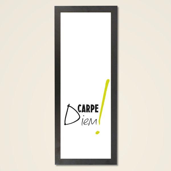 Carpe Diem by Monika Minder Holzrahmen schwarz