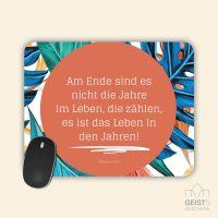 Mousepad bedruckt Zitat Das Leben in Jahren Abraham Lincoln Geist und Geschenk