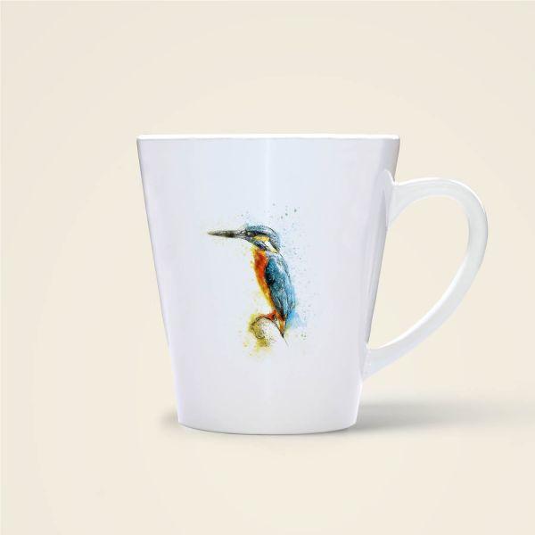 Becher Tasse Aquarell-Design Wohin du auch gehst.. Geist und Geschenk konisch