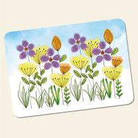 Bedrucktes 6-teiliges Tischset Blumenwiese  Geist und Geschenk