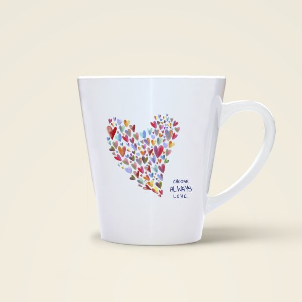 Tasse Herz Liebe Motiv bedruckt Geist und Geschenk