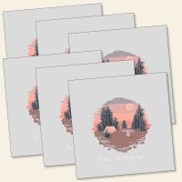 Grußkarten-Set 'be simple'
