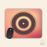 Bedrucktes Mousepad  Buddha Gold Light Geist und Geschenk eckige Form