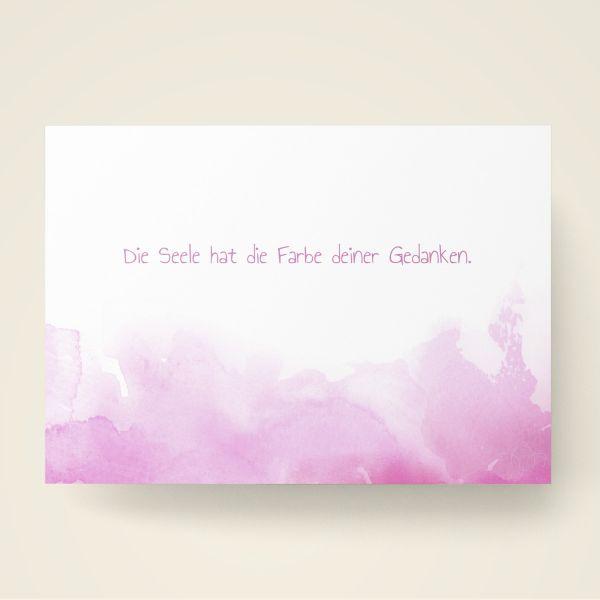 Grusskarten Set Farbwolken Rosé