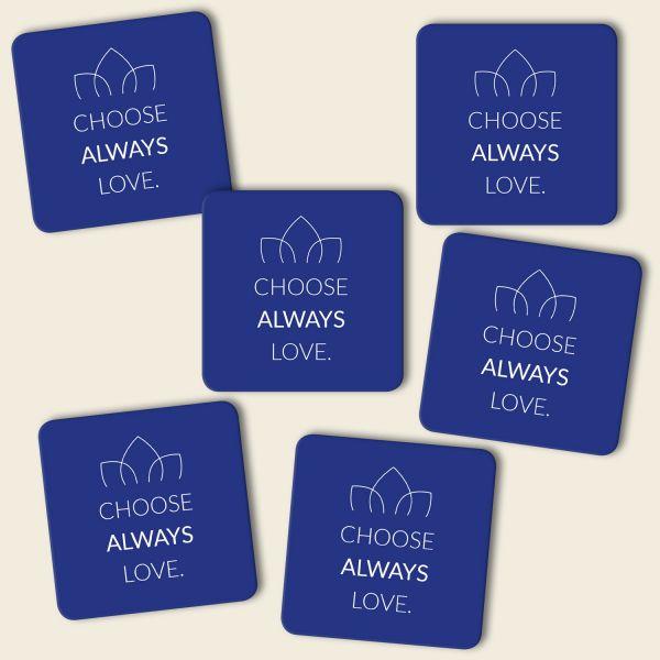 Untersetzer Set 'Choose always love' in versch. Farben