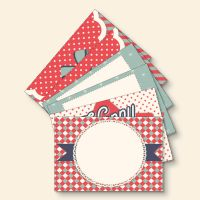 Grußkartenset bedruckt Weihnachts-Mix Geist und Geschenk