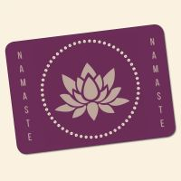 Bedrucktes 6-teiliges Tischset Namaste I  Geist und Geschenk